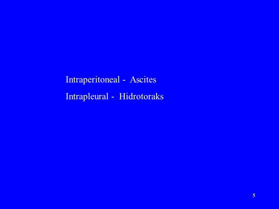 Intraperitoneal - Ascites