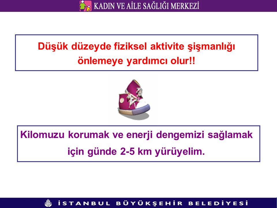 Düşük düzeyde fiziksel aktivite şişmanlığı önlemeye yardımcı olur!!