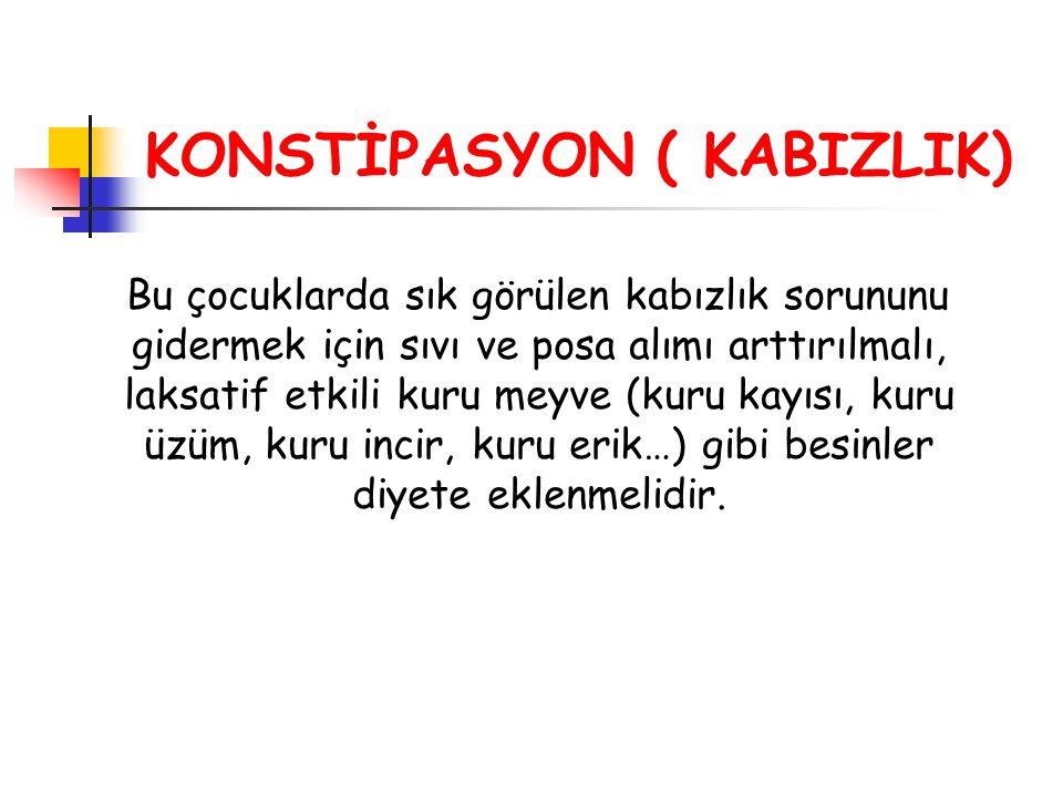 KONSTİPASYON ( KABIZLIK)