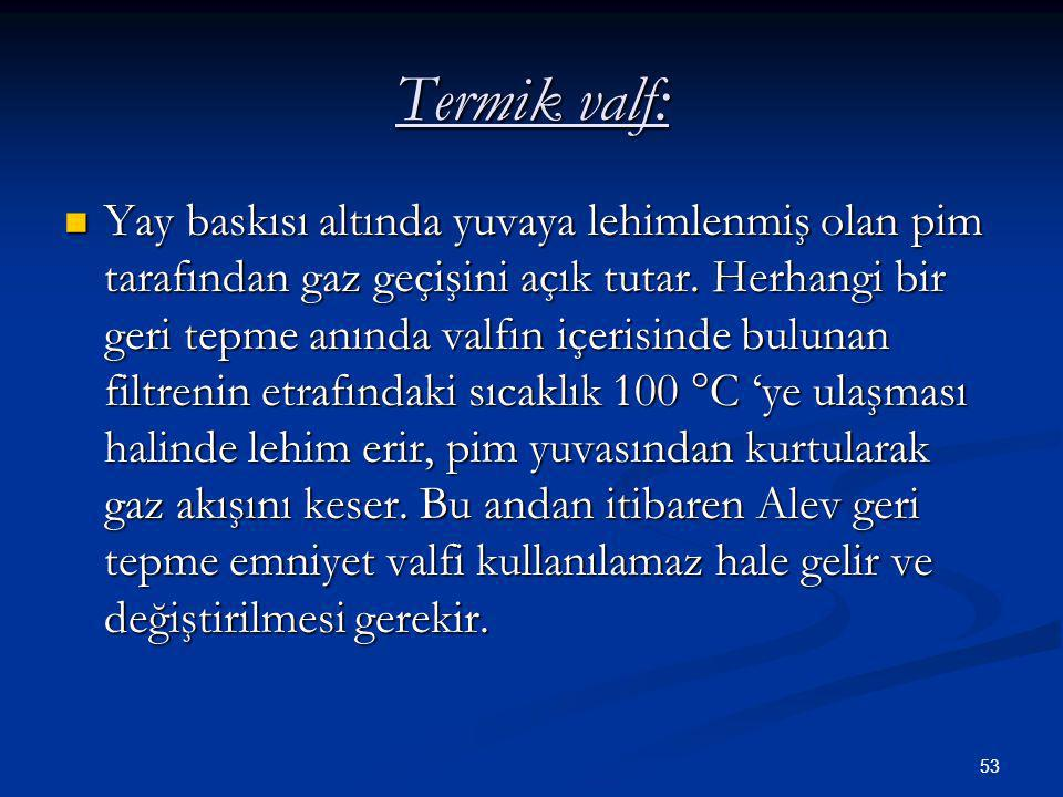 Termik valf: