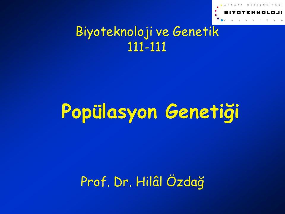 Biyoteknoloji ve Genetik