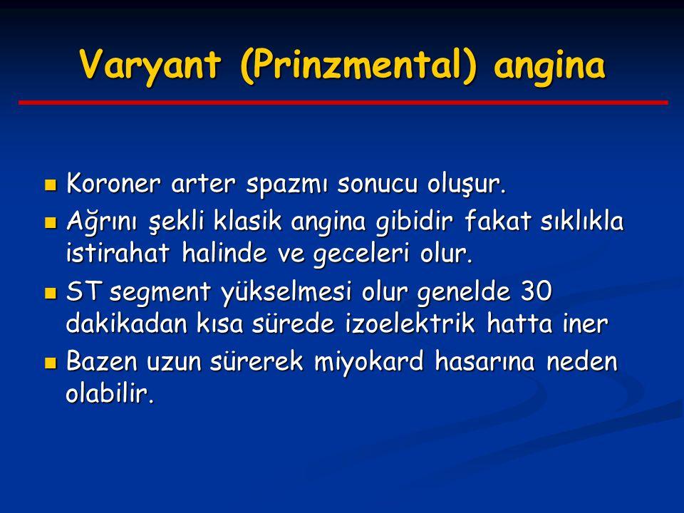 Varyant (Prinzmental) angina