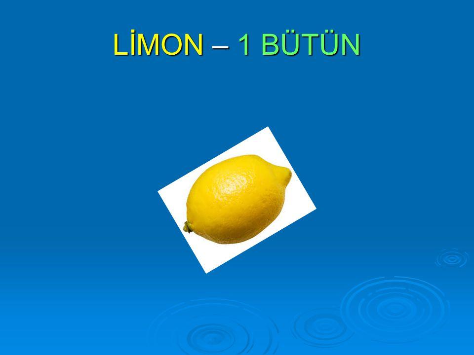 LİMON – 1 BÜTÜN