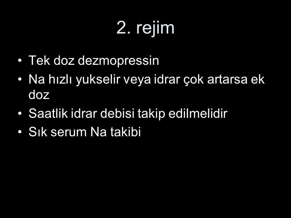 2. rejim Tek doz dezmopressin