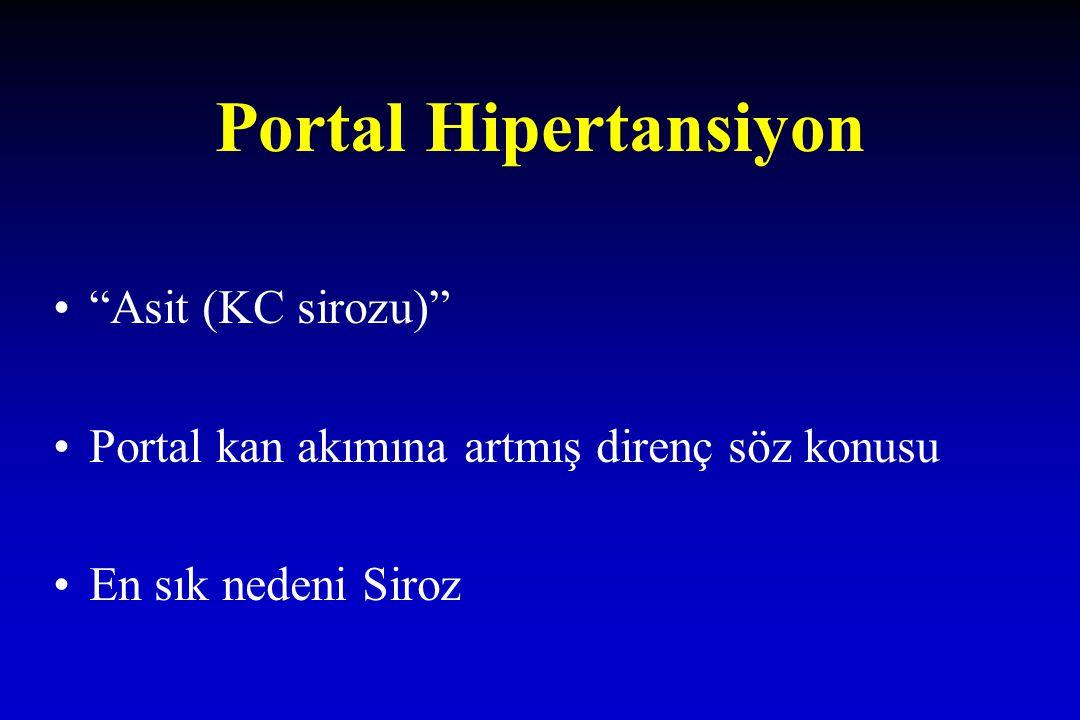 Portal Hipertansiyon Asit (KC sirozu)