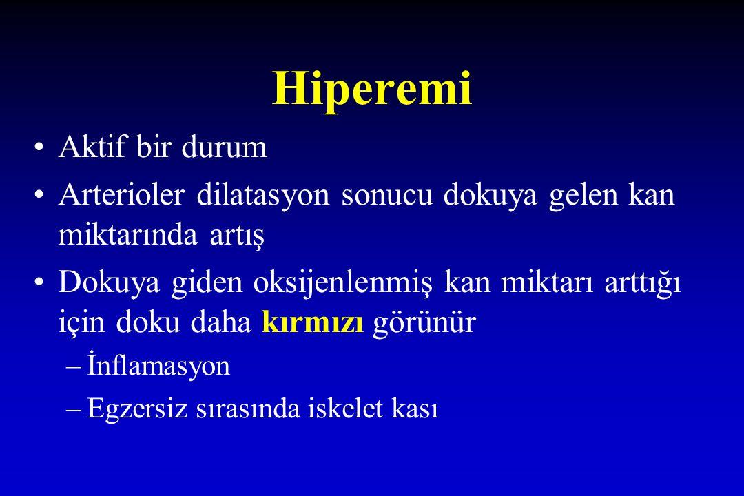 Hiperemi Aktif bir durum