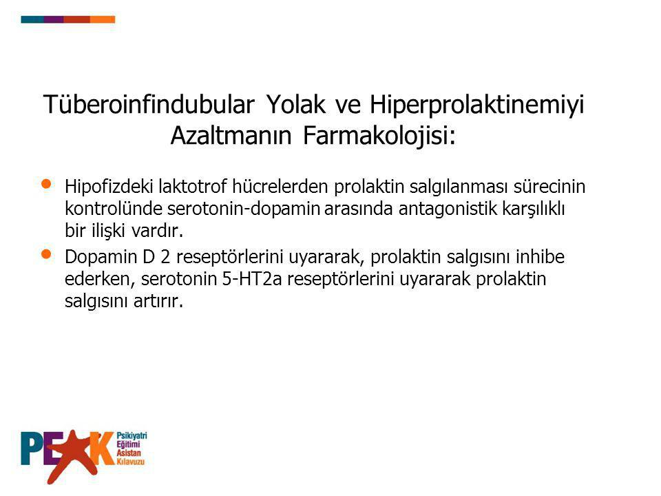 Tüberoinfindubular Yolak ve Hiperprolaktinemiyi Azaltmanın Farmakolojisi: