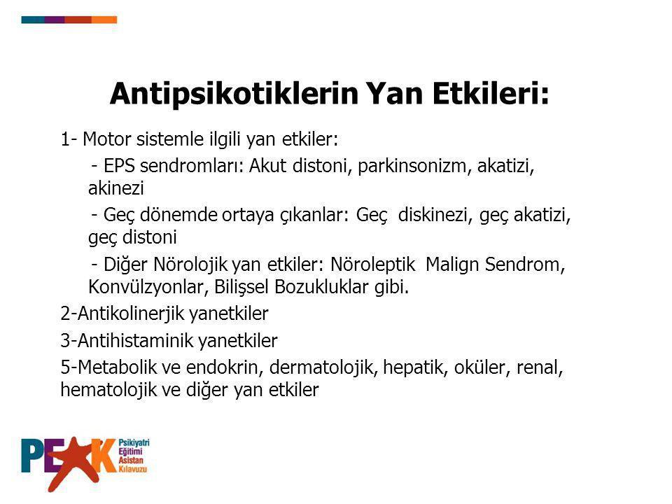 Antipsikotiklerin Yan Etkileri: