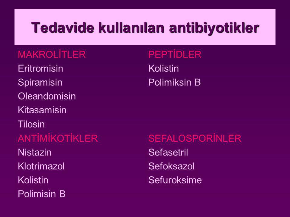 Tedavide kullanılan antibiyotikler