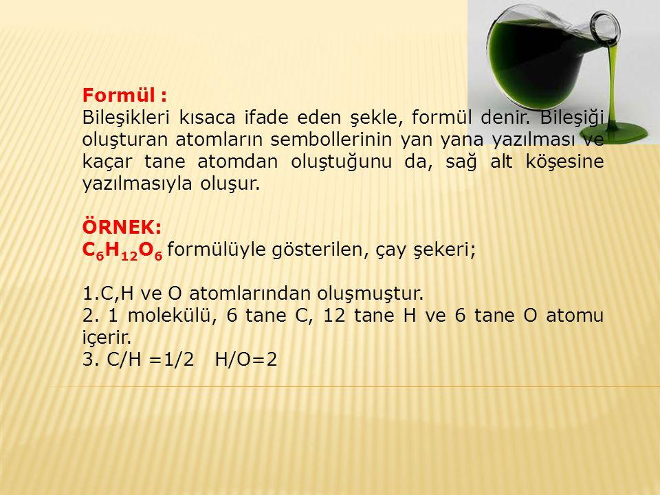 Formül :