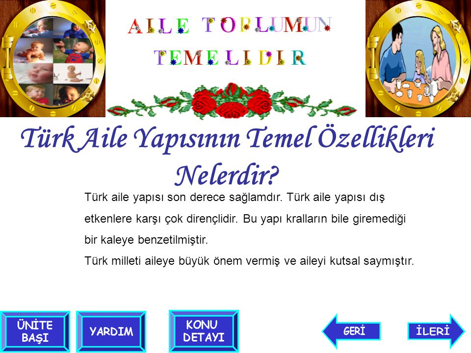 Türk Aile Yapısının Temel Özellikleri Nelerdir