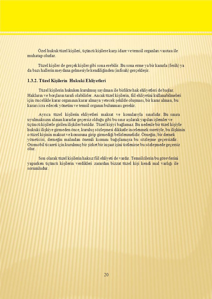 Özel hukuk tüzel kişileri, üçüncü kişilere karşı idare ve temsil organları vasıtası ile