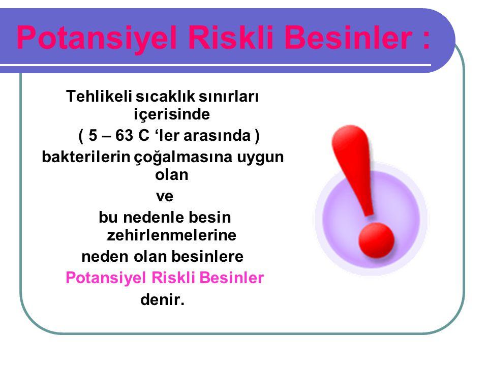 Potansiyel Riskli Besinler :