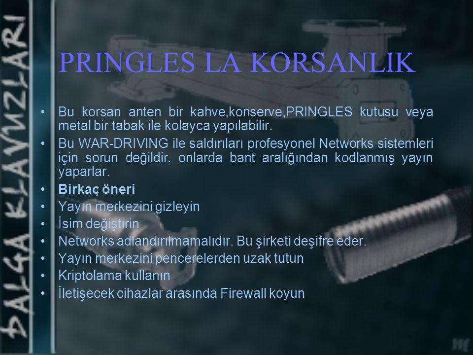 PRINGLES LA KORSANLIK Bu korsan anten bir kahve,konserve,PRINGLES kutusu veya metal bir tabak ile kolayca yapılabilir.