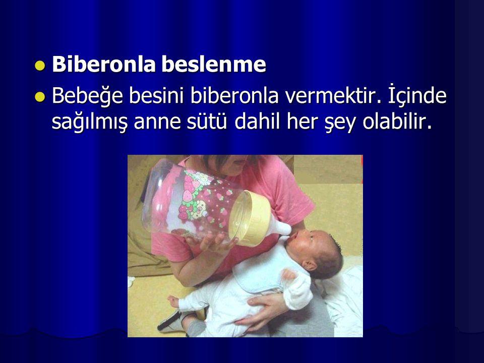 Biberonla beslenme Bebeğe besini biberonla vermektir.