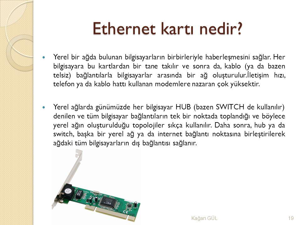 Ethernet kartı nedir