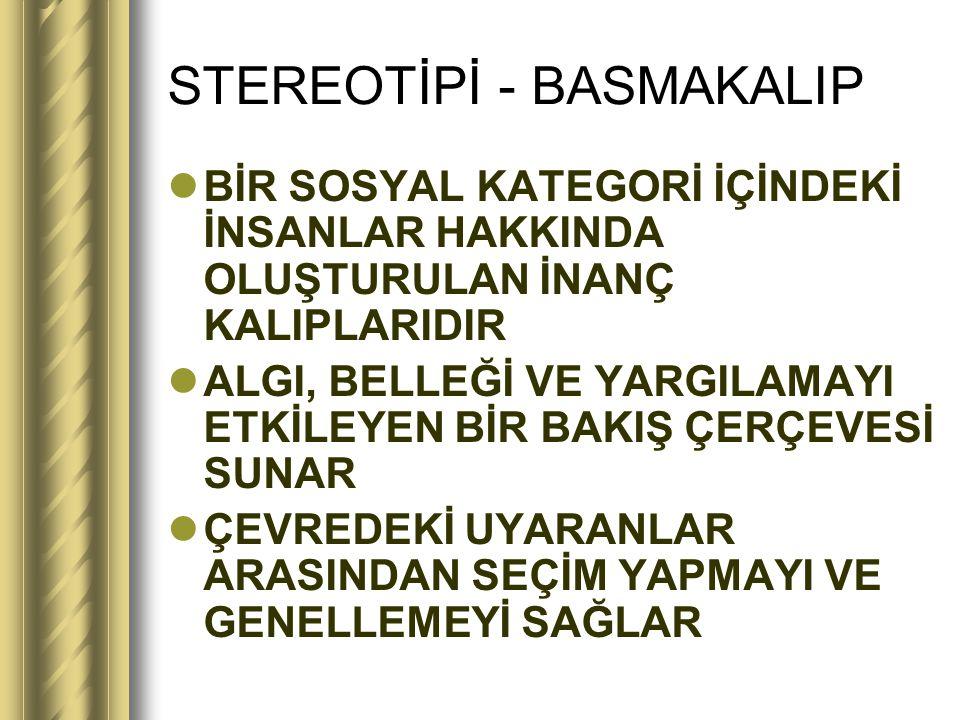 STEREOTİPİ - BASMAKALIP