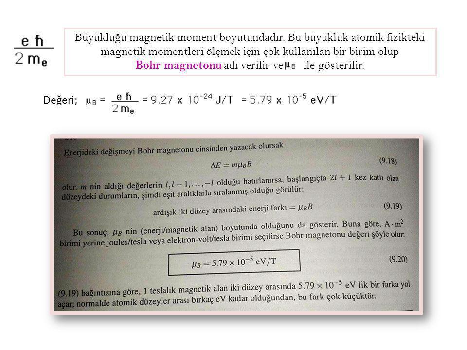 Bohr magnetonu adı verilir ve ile gösterilir.