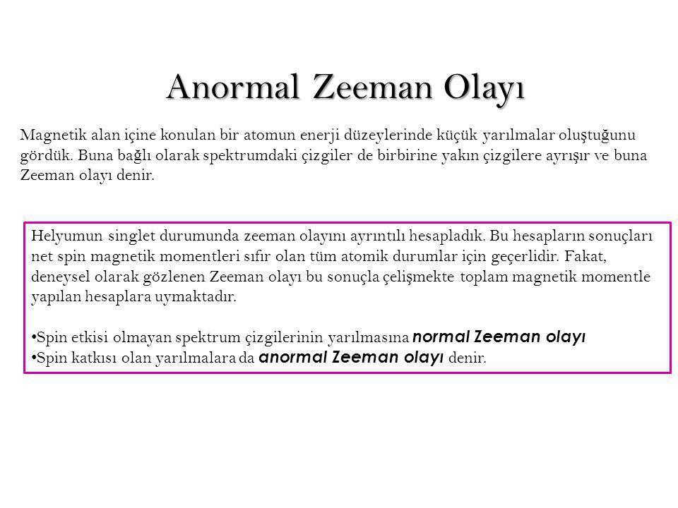 Anormal Zeeman Olayı