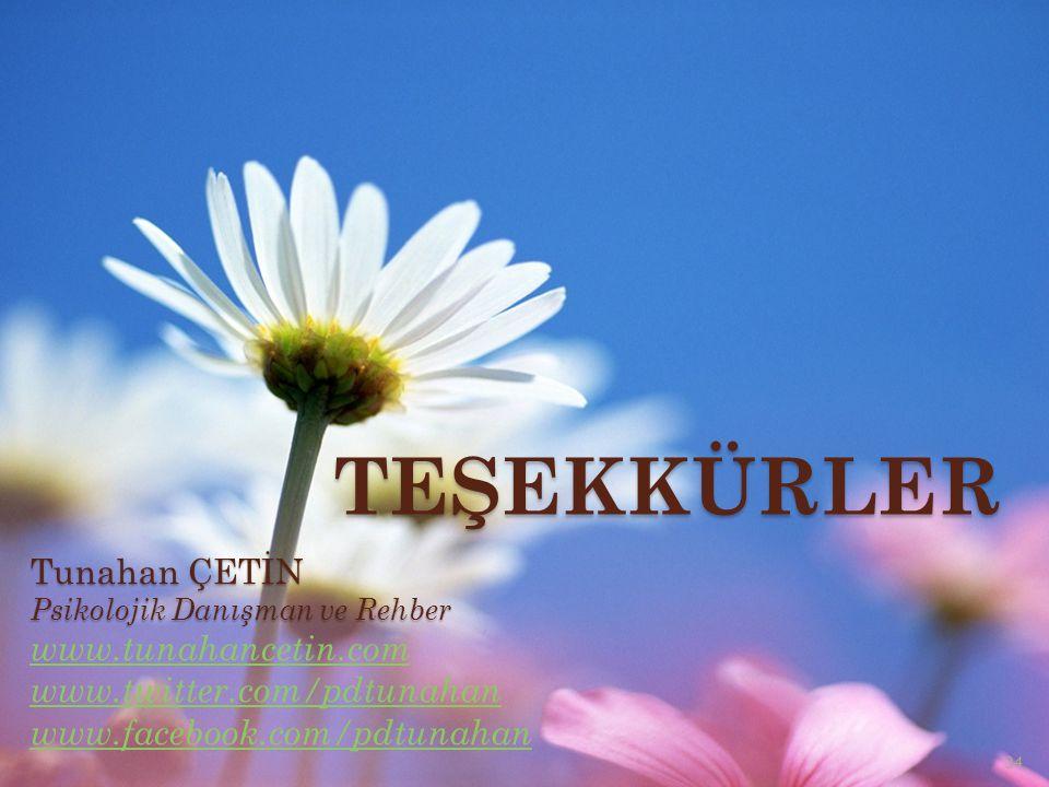 TEŞEKKÜRLER Tunahan ÇETİN www.tunahancetin.com