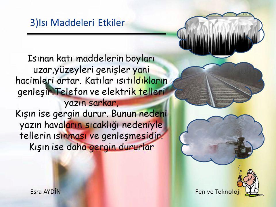 3)Isı Maddeleri Etkiler