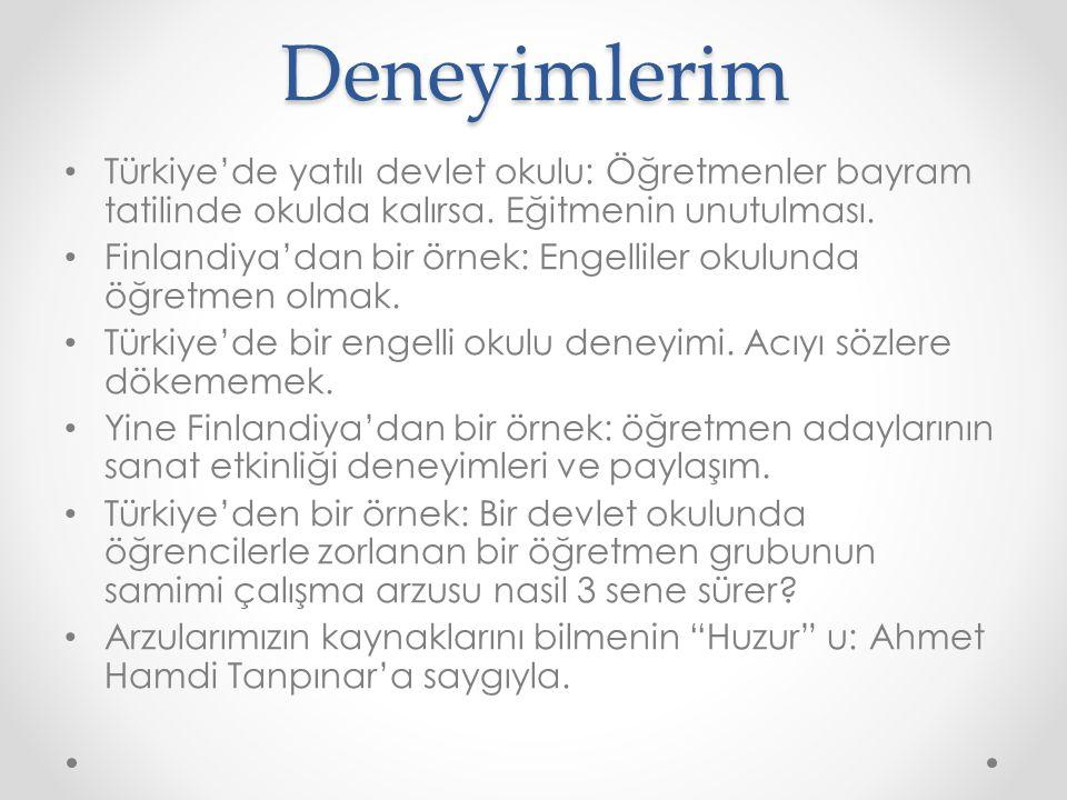 Deneyimlerim Türkiye'de yatılı devlet okulu: Öğretmenler bayram tatilinde okulda kalırsa. Eğitmenin unutulması.