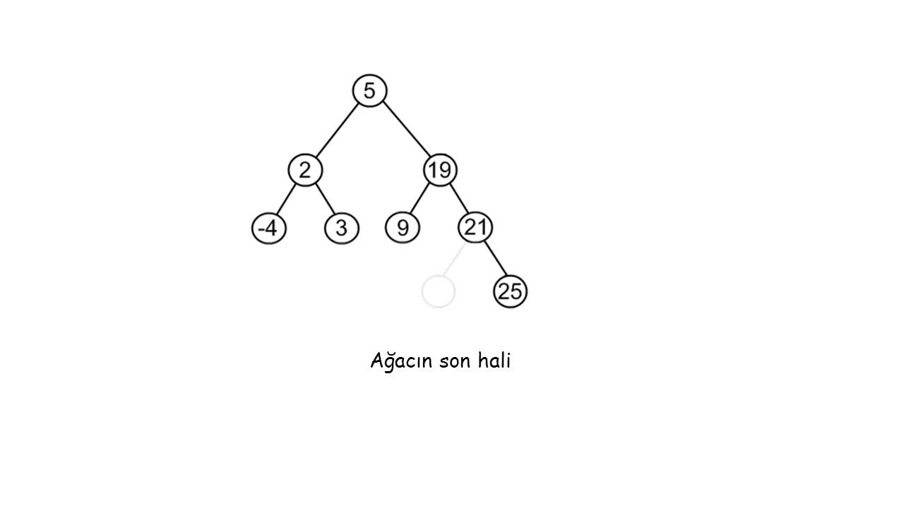 Ağacın son hali