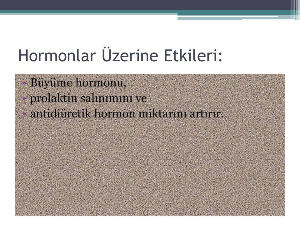 Hormonlar Üzerine Etkileri: