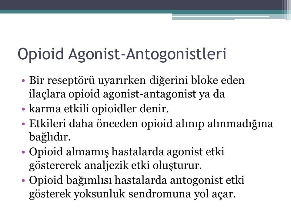 Opioid Agonist-Antogonistleri