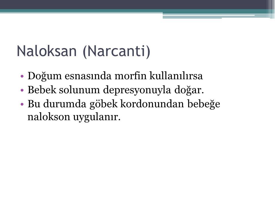 Naloksan (Narcanti) Doğum esnasında morfin kullanılırsa