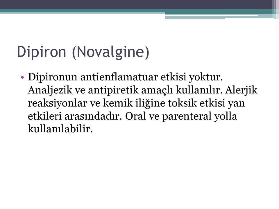 Dipiron (Novalgine)