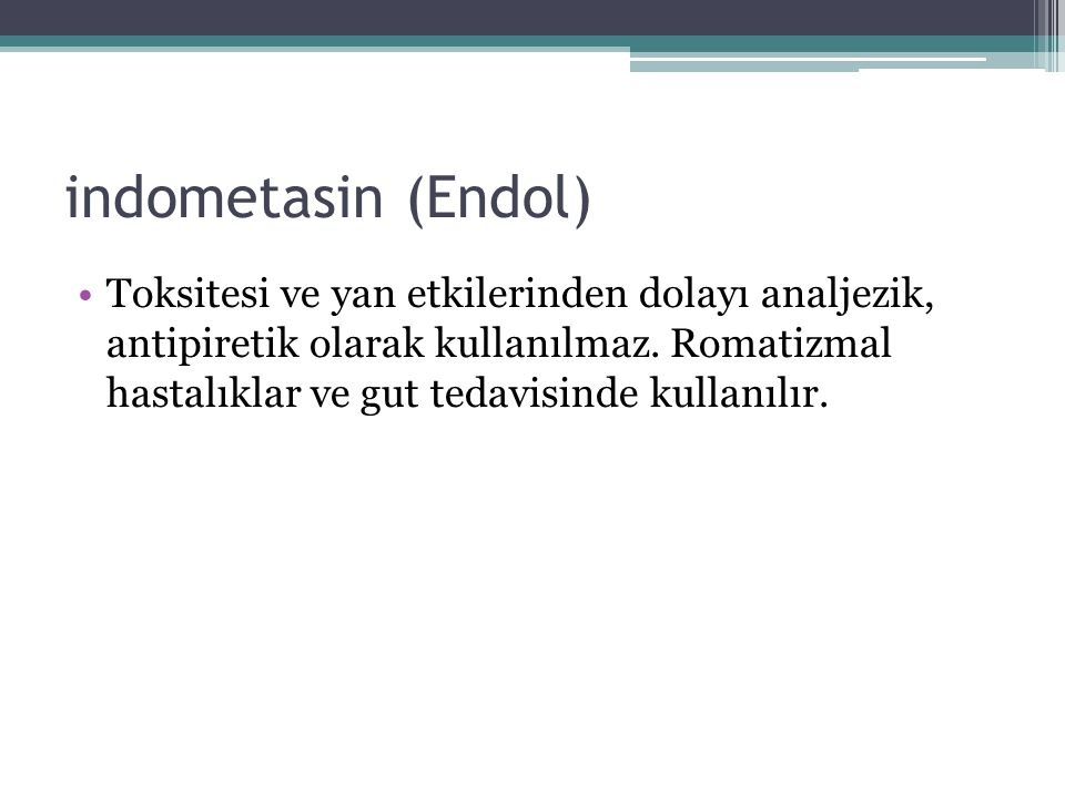 indometasin (Endol)