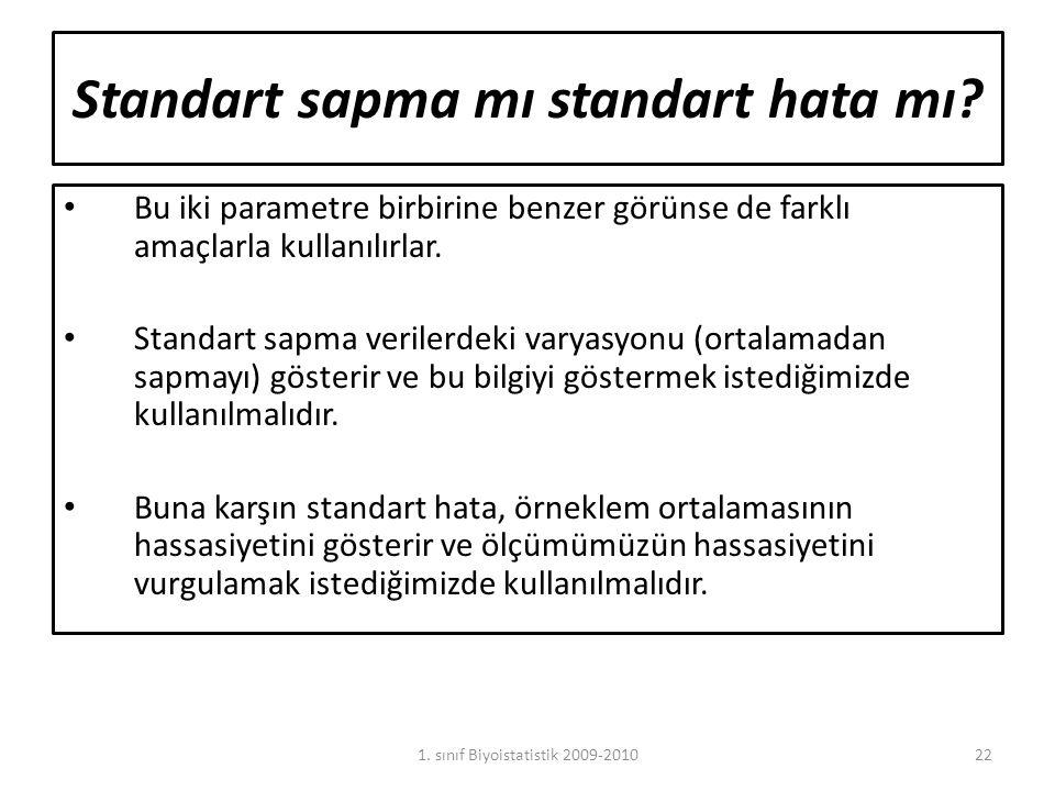 Standart sapma mı standart hata mı