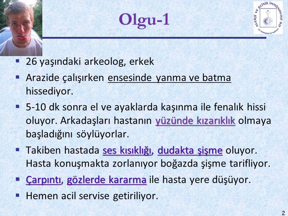Olgu-1 26 yaşındaki arkeolog, erkek