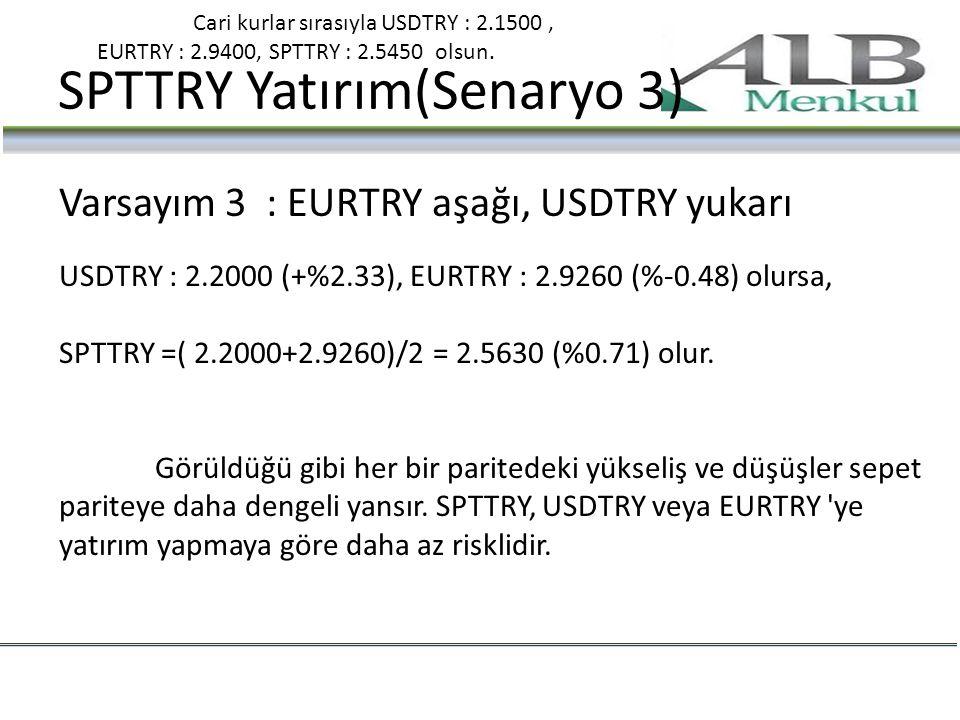 SPTTRY Yatırım(Senaryo 3)
