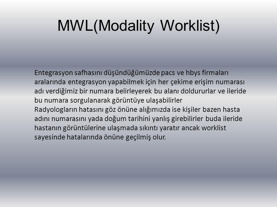 MWL(Modality Worklist)