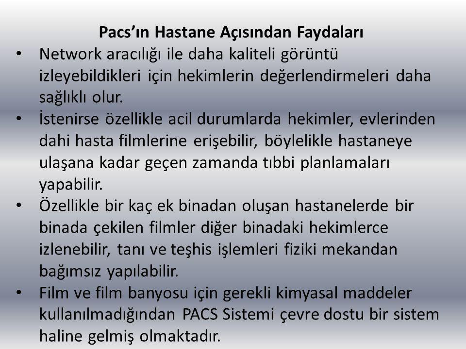 Pacs'ın Hastane Açısından Faydaları