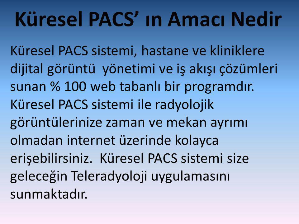 Küresel PACS' ın Amacı Nedir