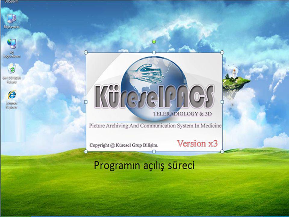 Programın açılış süreci