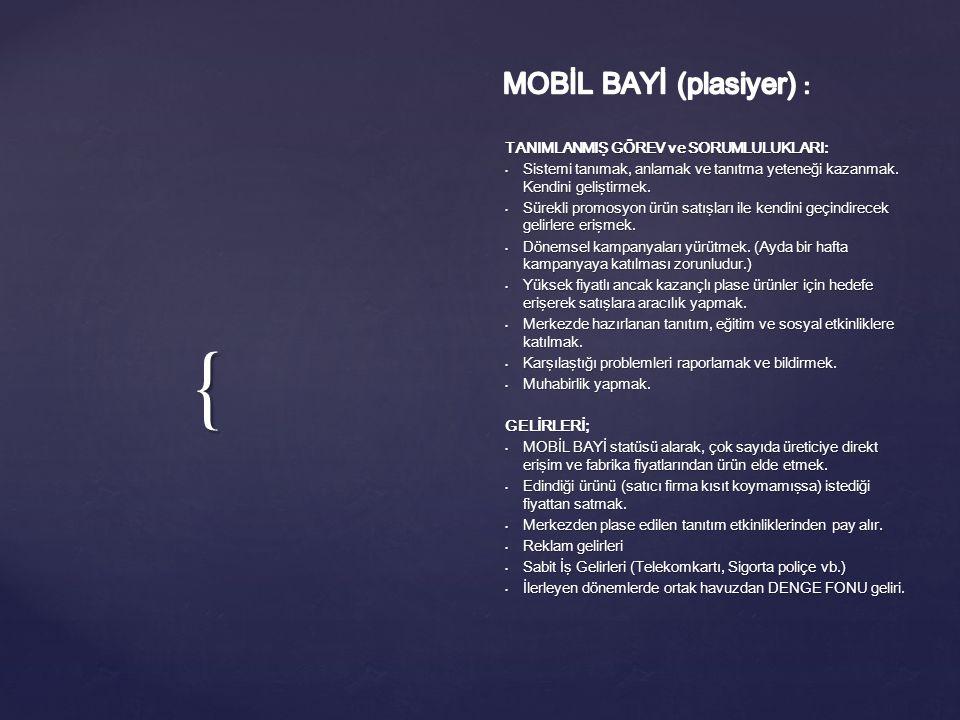 MOBİL BAYİ (plasiyer) :
