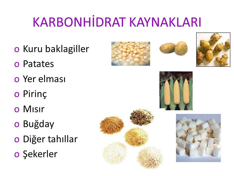 KARBONHİDRAT KAYNAKLARI