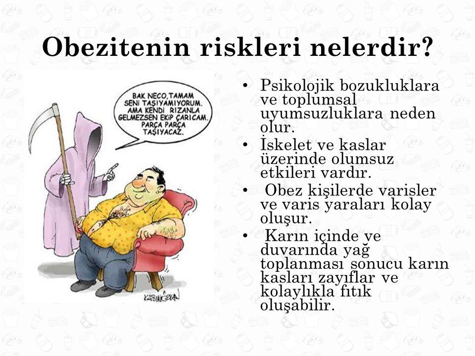 Obezitenin riskleri nelerdir