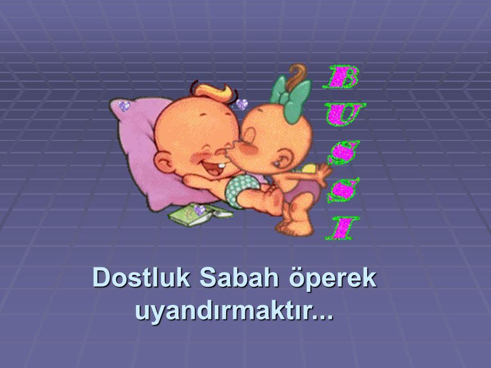 Dostluk Sabah öperek uyandırmaktır...