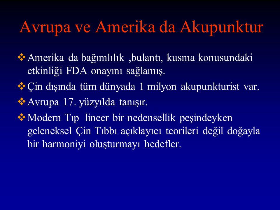 Avrupa ve Amerika da Akupunktur