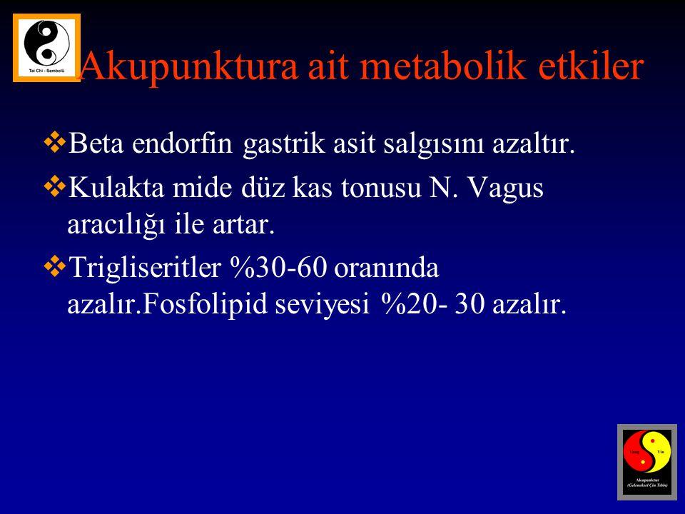 Akupunktura ait metabolik etkiler