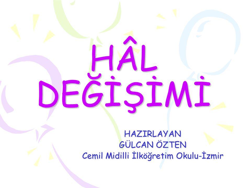 HAZIRLAYAN GÜLCAN ÖZTEN Cemil Midilli İlköğretim Okulu-İzmir