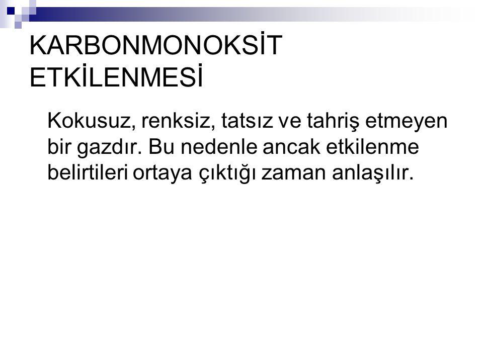 KARBONMONOKSİT ETKİLENMESİ