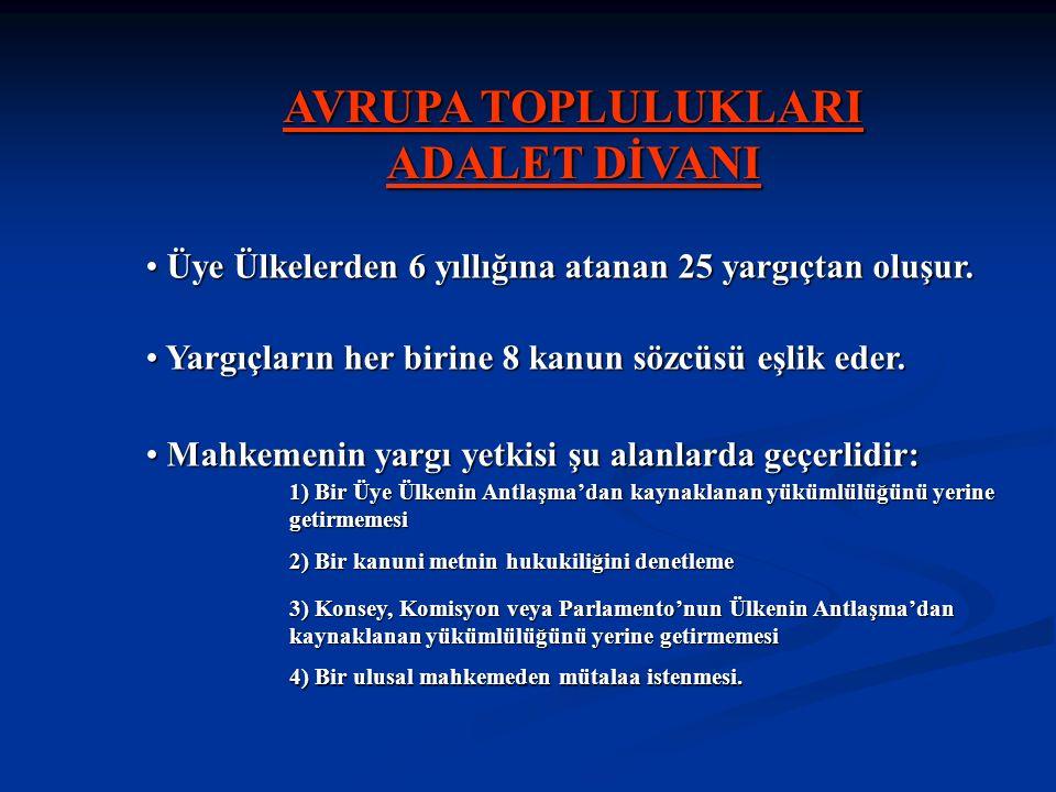 AVRUPA TOPLULUKLARI ADALET DİVANI