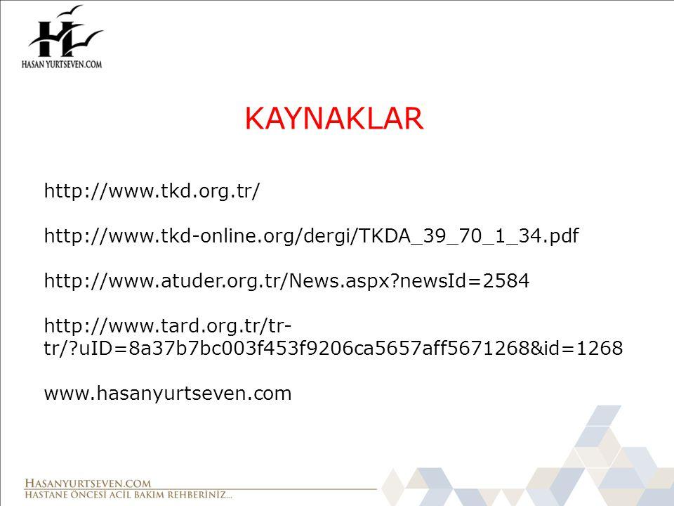 KAYNAKLAR http://www.tkd.org.tr/