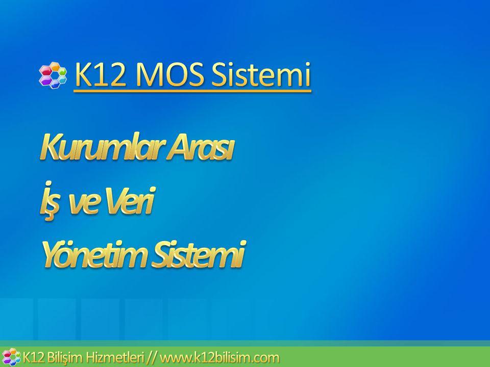 Kurumlar Arası İş ve Veri Yönetim Sistemi K12 MOS Sistemi